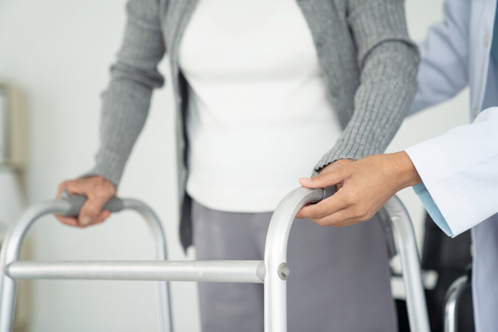 Photo of home health care worker providing home care